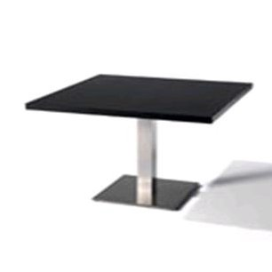 TABLE RECTANGULAIRE120x80 - Fût central carré - Table rectangulaire 120x80 fût central carré