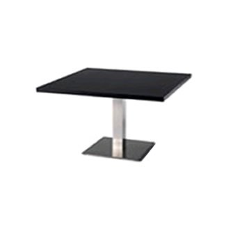 TABLE RECTANGULAIRE 120X80CM - Fût central cylindrique - TABLE RECTANGULAIRE 120X80CM - Fût central cylindrique
