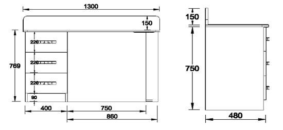 bureau caisson 3 tiroirs ref bureau sm6 bureau maison. Black Bedroom Furniture Sets. Home Design Ideas