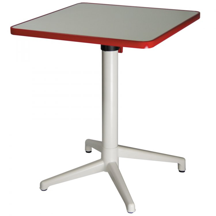 TABLE CLICK 800X800MM PLATEAU EN COMPACT RABATTABLE  - TABLE CLICK - COMPACT 800X800