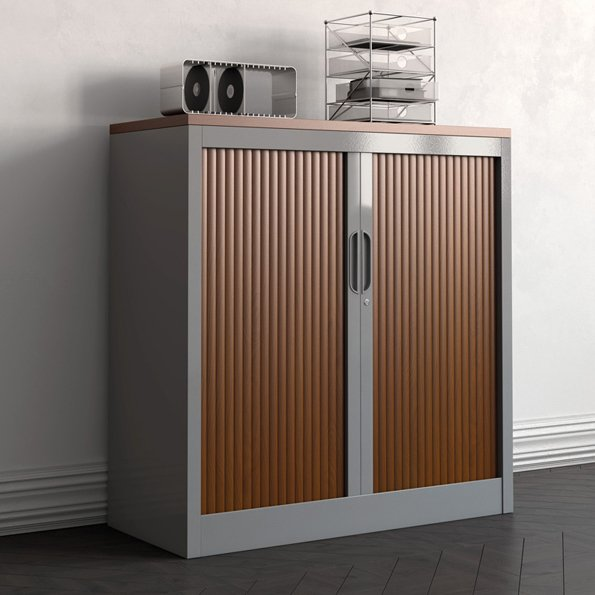 armoire a rideau basse bicolore ou monocolore ref bn01. Black Bedroom Furniture Sets. Home Design Ideas
