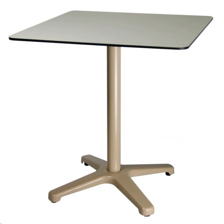 TABLE RABATTABLE EQUIX - PLATEAU EN COMPACT 800X800MM - RÉF : TABLE EQUIX - COMPACT 800X800MM