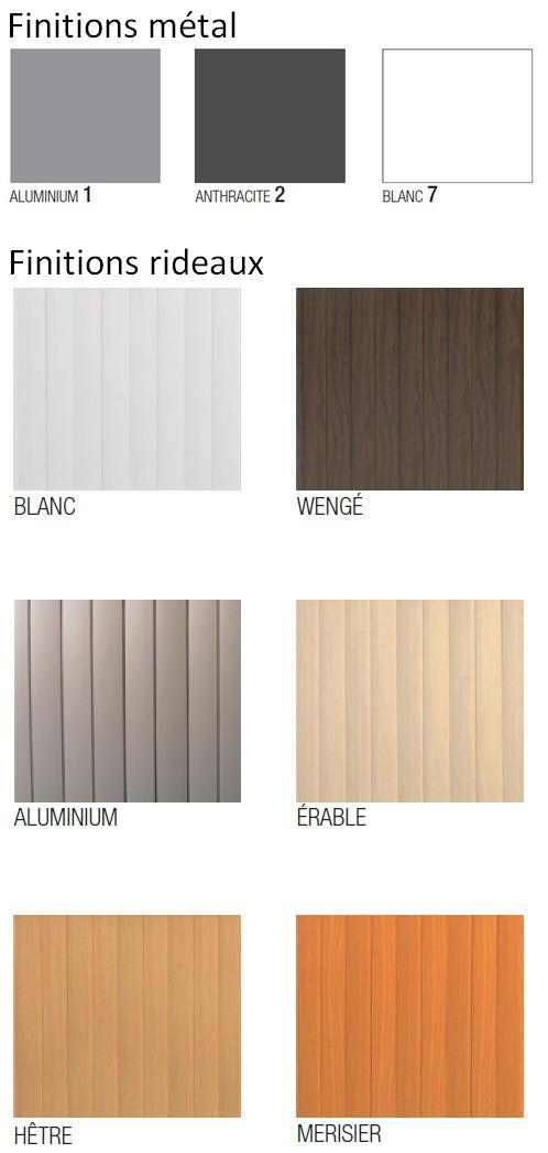 Armoire a rideau haute bicolore ou monocolore ref bn02 for Buro 10 agencement